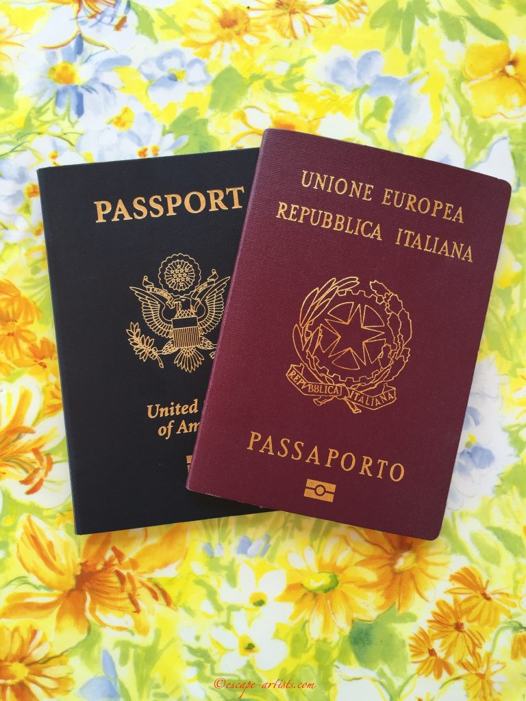 My passports for Dual citizenship with Italy and the US