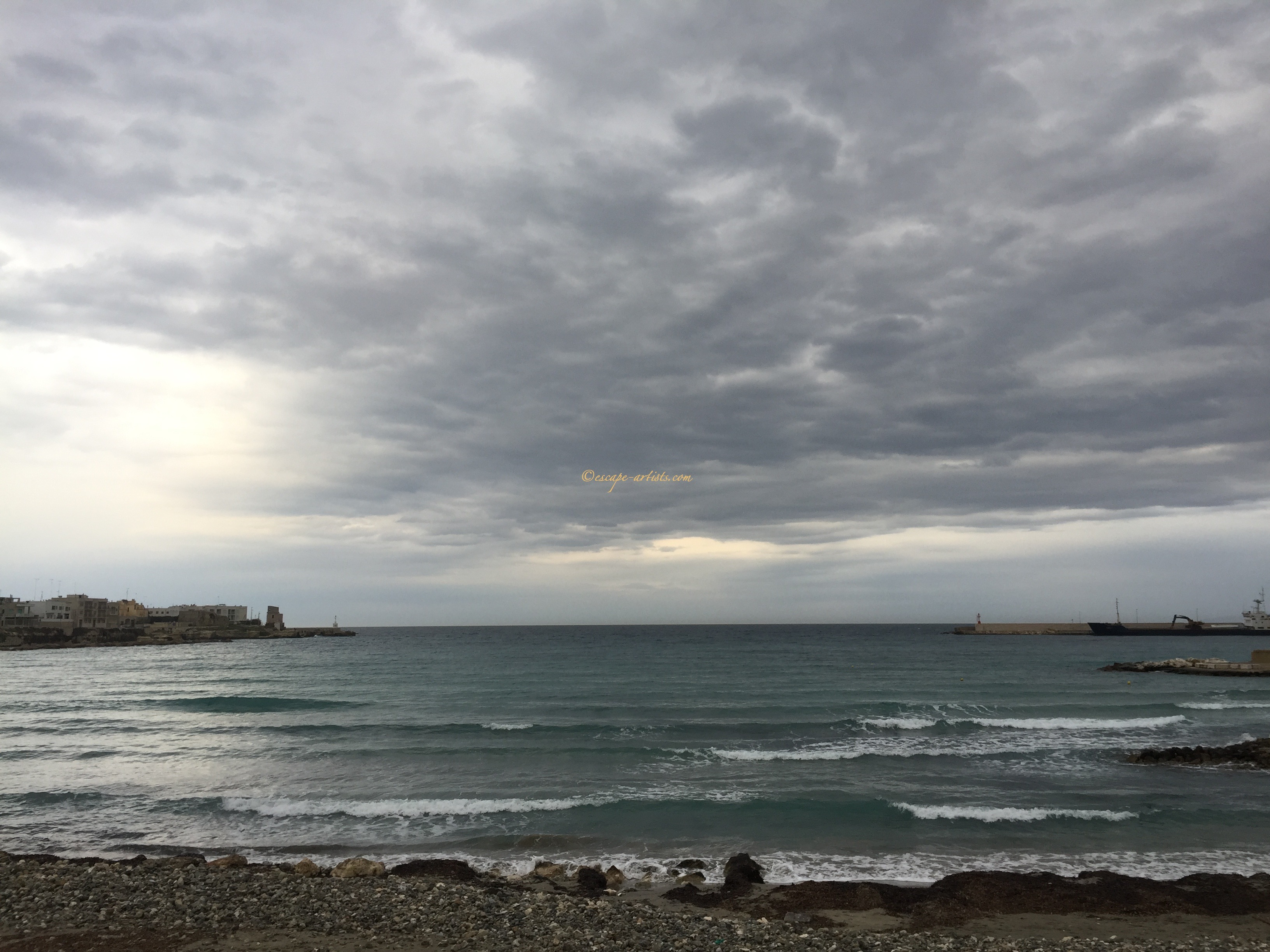 The water of Otranto after a storm